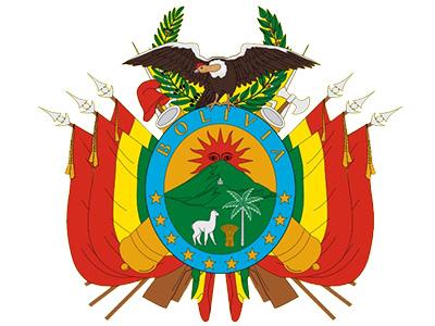 Composición del escudo de la bandera de Bolivia