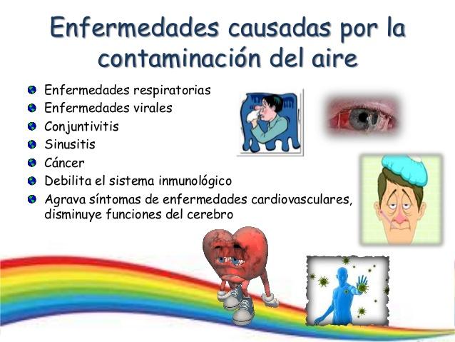 Enfermedades causadas por la contaminación atmosférica