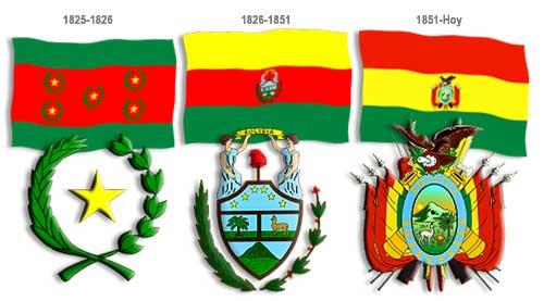 Banderas que ha tenido Bolivia en su historia