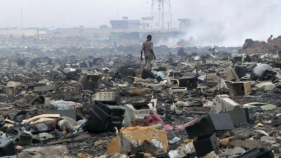 Imágenes de la contaminación del suelo