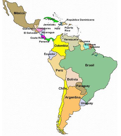 ¿Cuáles son los países que conforman Latinoamérica?