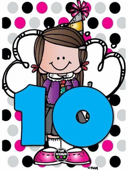 Números de 10 en 10 hasta el 100