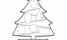 Árbol de navidad con figuras geométricas