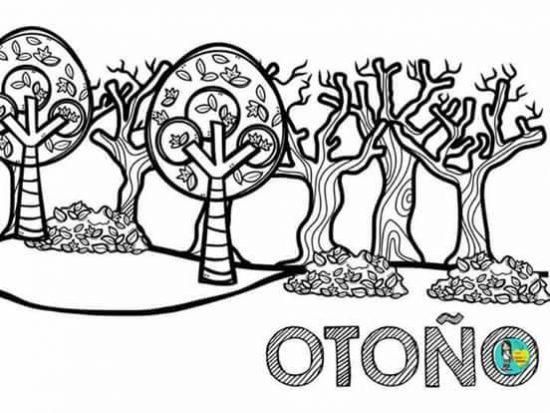 Estaciones del año para colorear otono