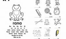 Actividades con la silaba ra re ri ro ru (rana)
