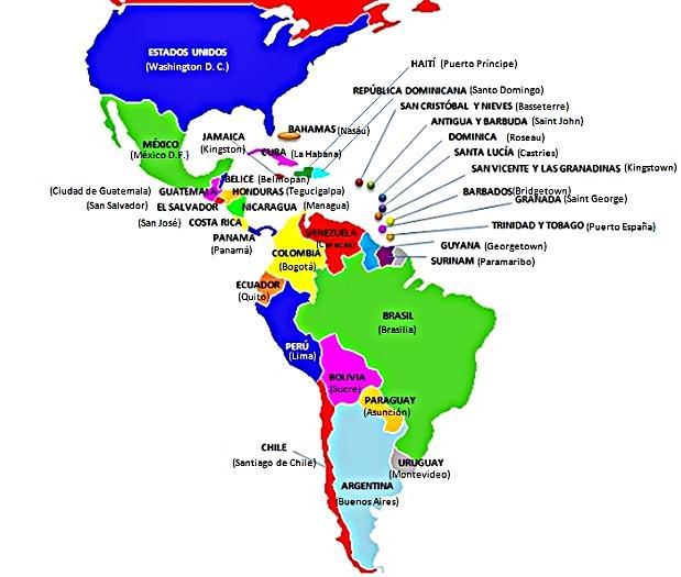 ¿Cuáles son los países de América Latina y sus capitales?