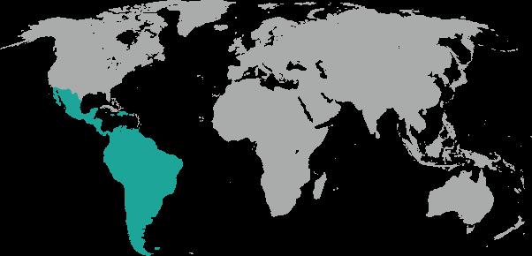 Ubicación geográfica de Latinoamérica
