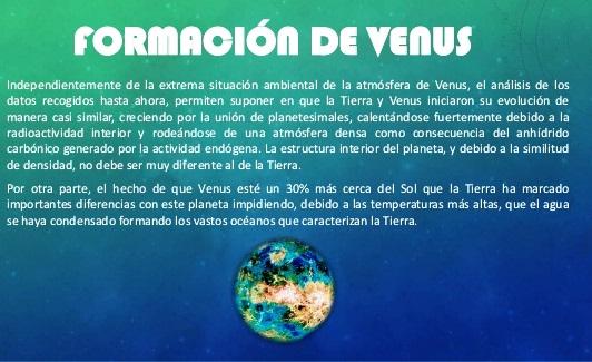 ¿Cómo se formó el planeta Venus?