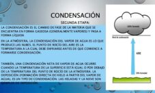 ¿Qué es la condensación en el ciclo del agua?
