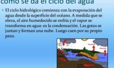 Explicación sobre el ciclo del agua