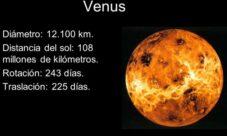 Movimiento de rotación y traslación del planeta venus