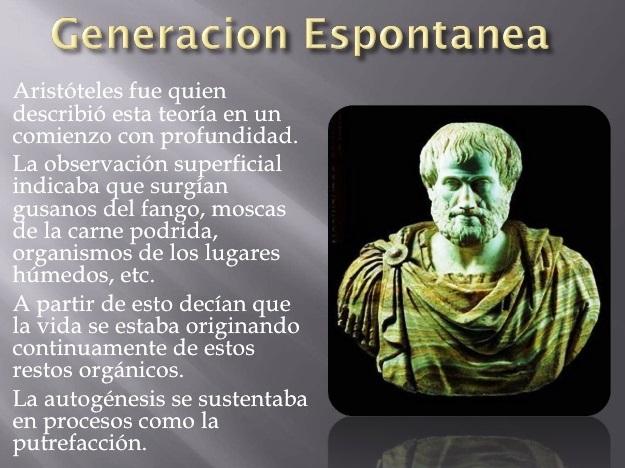 Teoría de la generación espontánea de Aristóteles