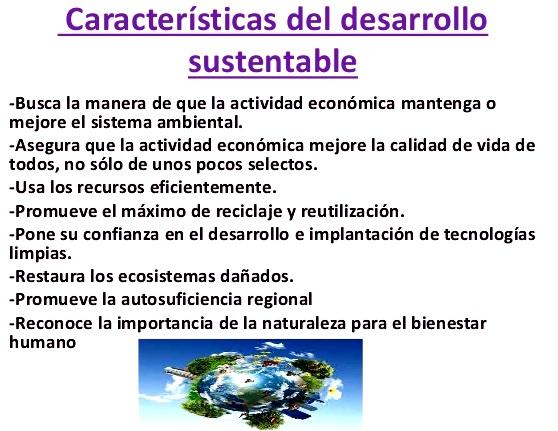 Características del desarrollo sustentable