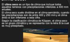 Tipos de clima árido o seco