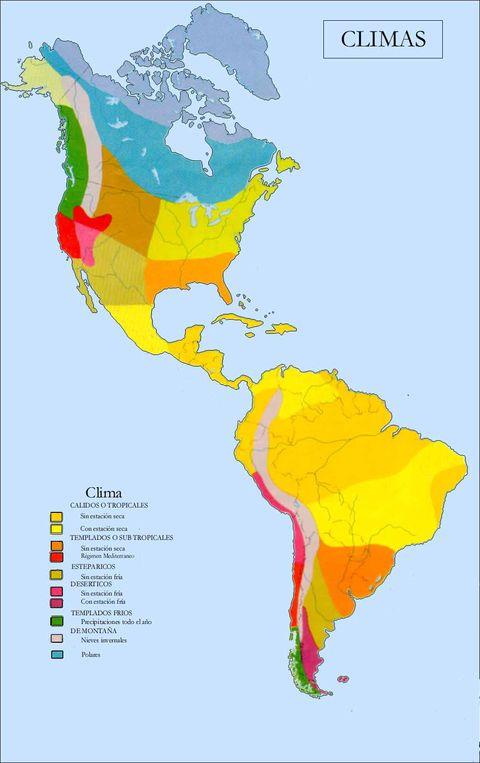 Tipos de climas en América
