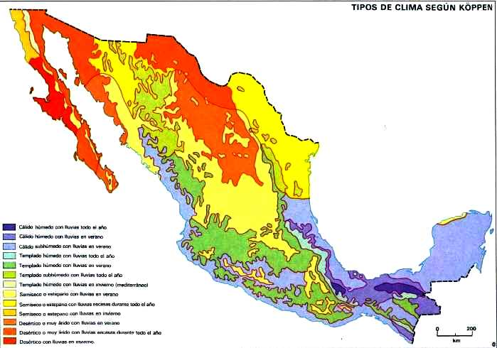 Tipos de climas en México