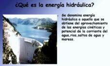 Concepto de energía hidráulica