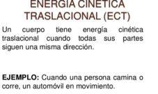 Energía cinética traslacional