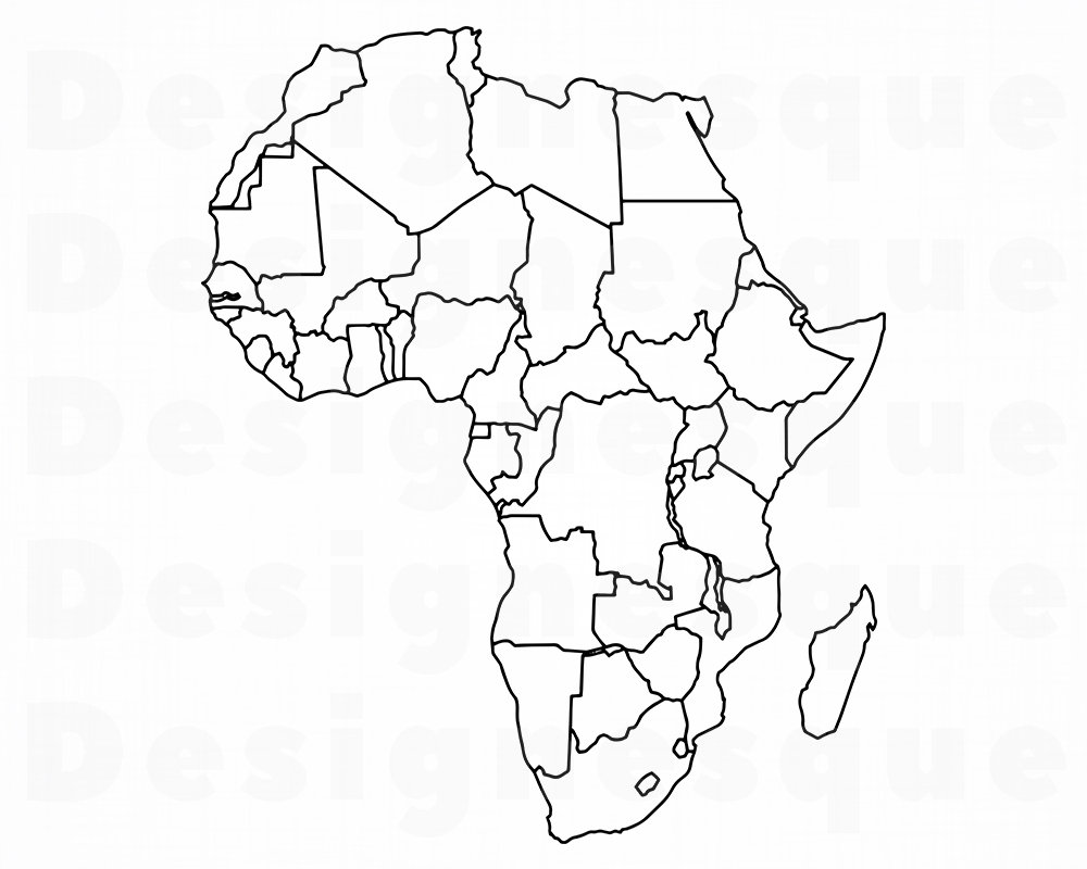 Mapa Africa Sin Nombres.Mapa De Africa Sin Nombres Mapa De Africa