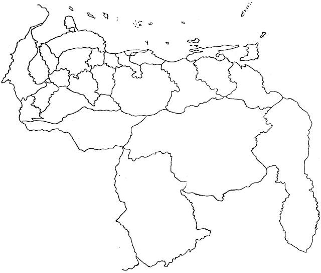 Mapa de Venezuela para dibujar