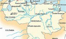 Mapa hidrográfico de Venezuela